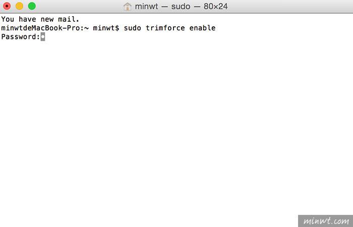 梅問題-MAC教學-Macbook換上第三方SSD硬碟,需手動開啟Trim機制,解決當機之苦
