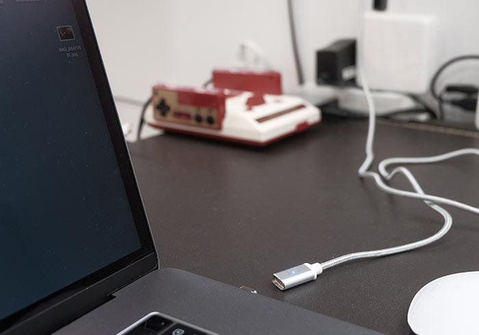 DIY新版Macbook Type-C磁吸充電線,踢到充電線也不怕摔電腦