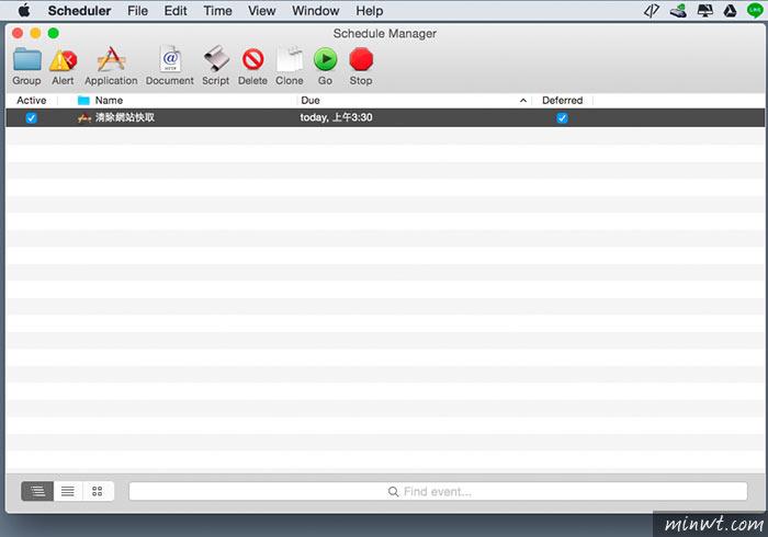 梅問題-Scheduler for Macintosh - MAC平台中好用的定期排程軟體