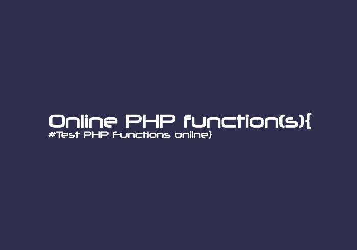 Online PHP function 想學PHP免架主機,打開瀏覽器就可寫PHP程式