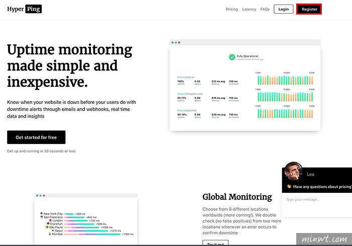 梅問題-[服務] Hyperping 免費網站監測平台,當網站斷線將立即以Email或簡訊通知