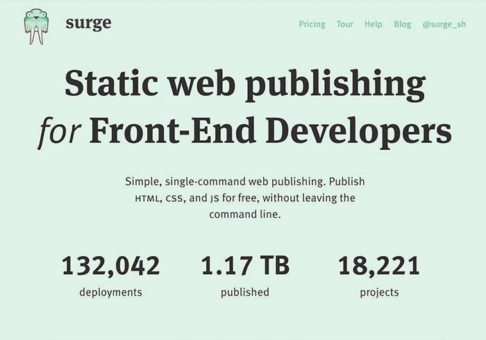 梅問題-Surge免費無限流靜態網頁空間,支援SSL、綁定網域