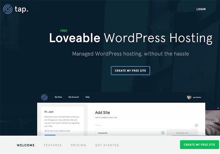 Tap 免費WordPres虛擬主機,可任意安裝外掛與佈景