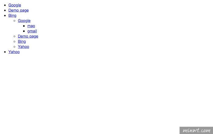 梅問題-TinyNav.js讓導覽列選單在手機時,變成下拉式選單