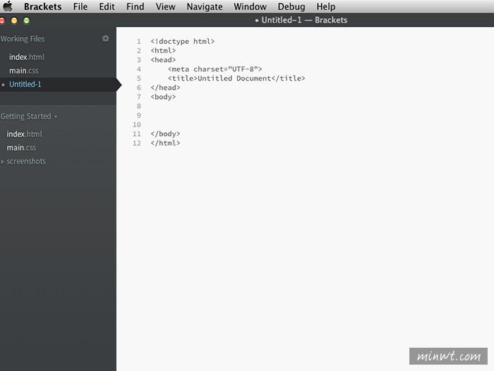 梅問題-Adobe推出免費好用的網頁編輯器《Brackets》