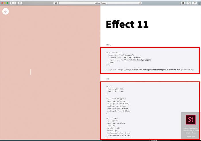 梅問題-16款酷炫的文字動畫效果源碼大公開,立即複製、立即套用