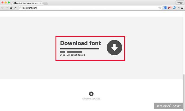 梅問題-《BLOKK》製作版型專用的假字字型