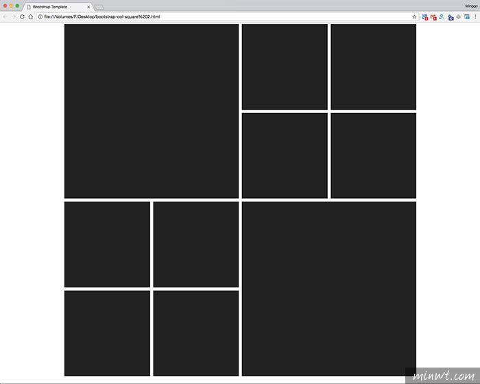 梅問題-Bootstrap的網格系統製作出Windows的方塊磚效果