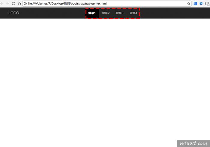 梅問題-Bootstrap教學-Navbar導覽列中選單自動齊左、齊右、居中