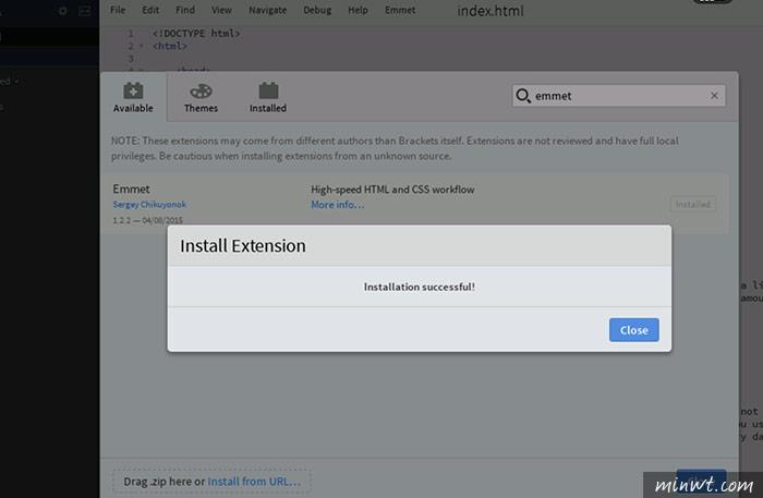 梅問題-Chrome外掛-Brackets現在打開瀏覽器就可使用