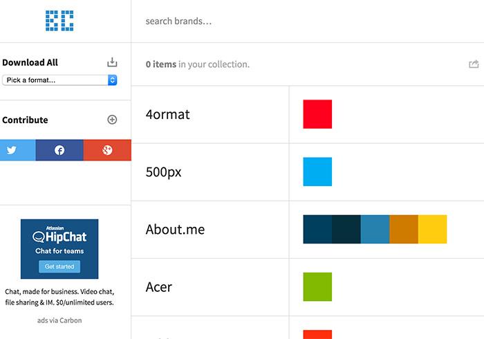 梅問題-《BrandColors》線上查詢並下載知名網站標準色的CSS