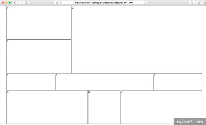 梅問題-Bootstrap教學-利用Bootstrap網格系統製作出flickr相片牆效果