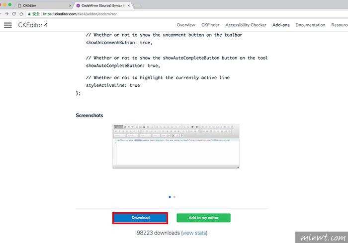梅問題-CKEditor安裝CodeMirror外掛,讓原始碼也支援高亮與行數效果