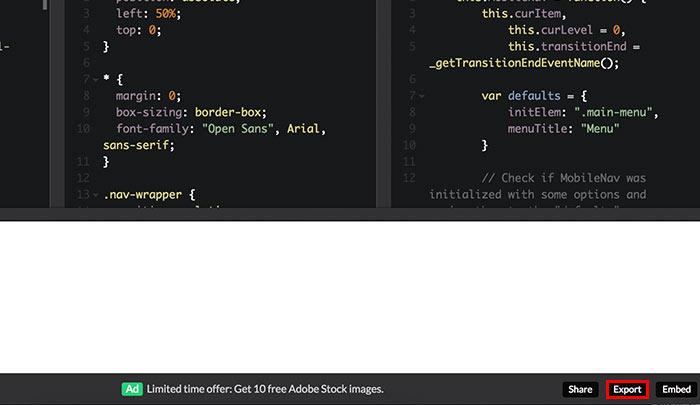 梅問題-CodePen如何搜尋所需素材並打包下載ZIP檔