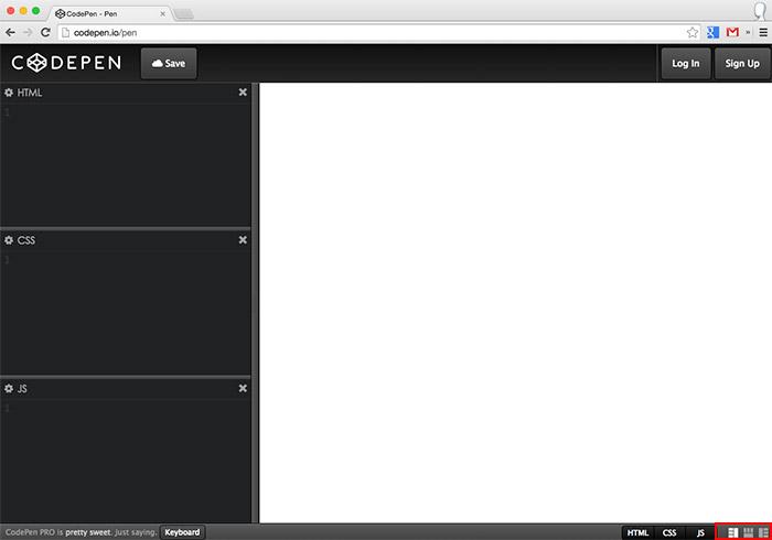梅問題-《CodePen》開啟瀏覽器就可開發網頁(Jade、SCSS、jQuery)