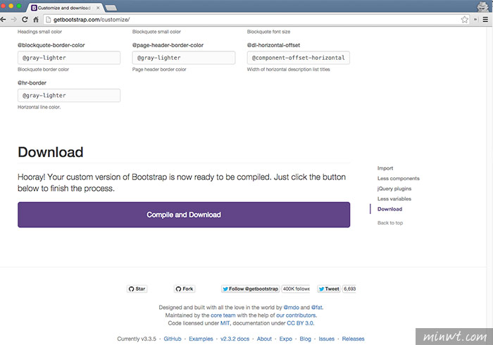 梅問題-Bootstrap教學-自訂並下載Grid system(網格)系統