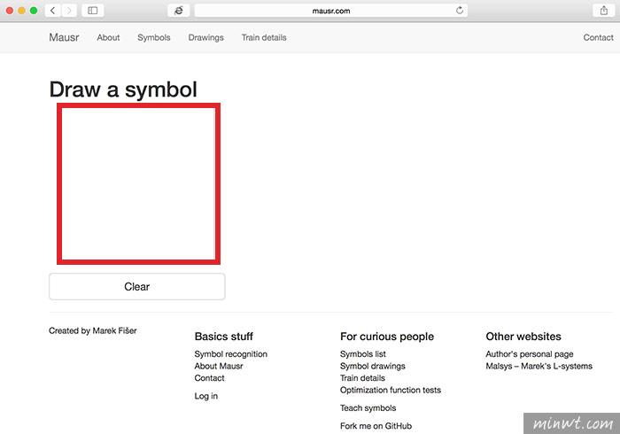 梅問題-「Mausr」用畫的幫你尋找出HTML的特殊符號