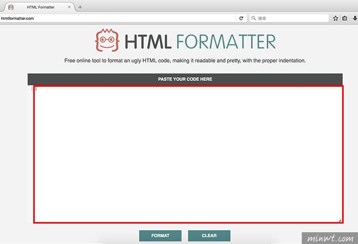 梅問題-HTML Formater 線上一鍵,將HTML、Javascript、CSS原始碼重新編排更易閱讀