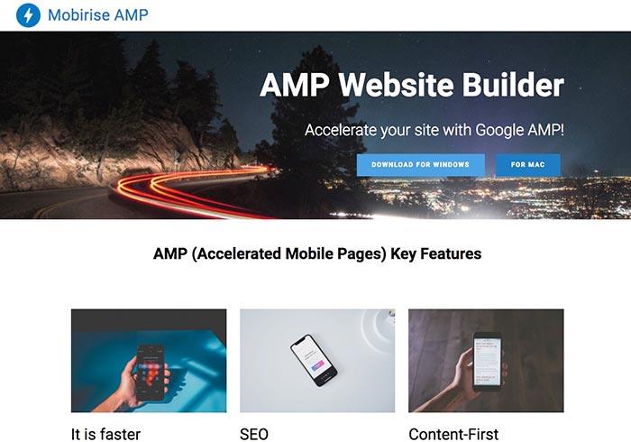 [軟體] Mobirise AMP全面支援Bootstrap4.0與AMP架構,讓網頁更有助於SEO排名
