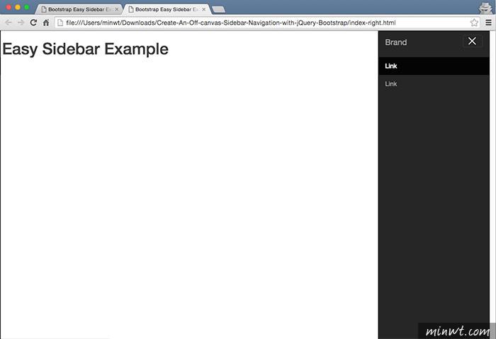 梅問題-Bootstrap教學-左右滑出導覽列選單