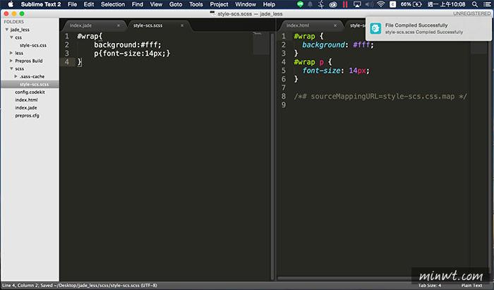 梅問題-網設必備《Prepros》免再安裝其它軟體即可編譯Jade/SASS