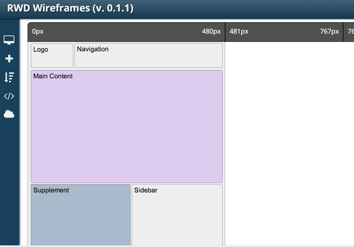 梅問題-網設必備-《RWD Wireframes》自適應網頁版型架構線上產生器