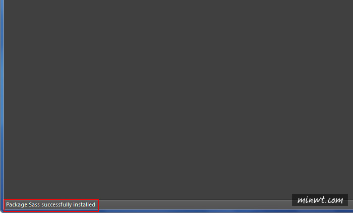 梅問題-Sublime Text2安裝SASS開發環境有效縮短CSS撰寫時間