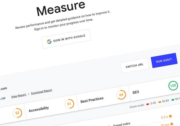 Google 推出另一個網站 SEO 檢測工具 WEB.DEV,除了評分還提供網站優化建議書