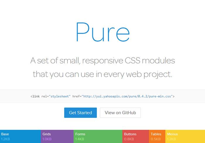《Pure》羽量級自適應網頁版型框架 (RWD Framework)
