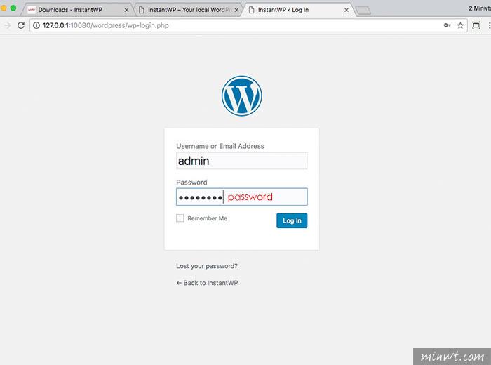 梅問題-InstantWP 一鍵無痛快速的建立WordPress環境