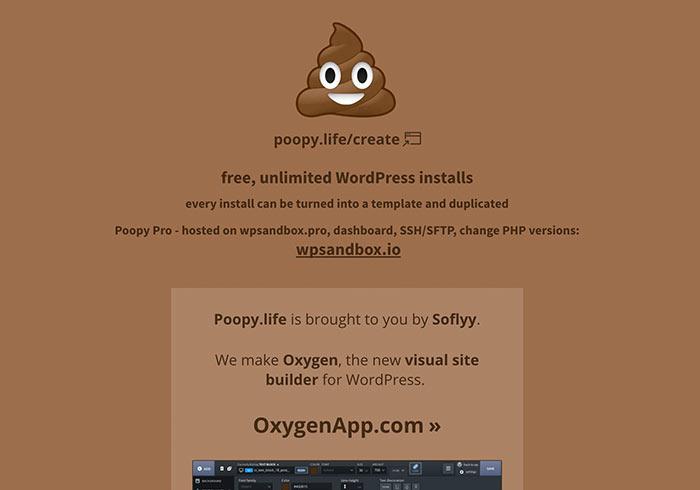 梅問題-Poopy.life提供七天 WordPress 測試環境,可安裝外掛與佈景主題