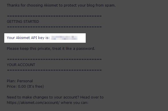 梅問題-WordPress教學-申請Akismet防止垃圾留言的API KEY